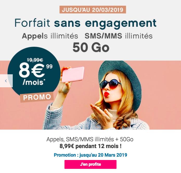 Le forfait Coriolis Telecom 50 Go.