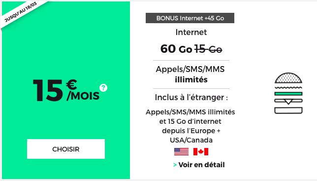forfait RED 60 go 15 euros
