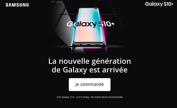 Commander le Samsung Galaxy S10+ chez Bouygues Telecom.