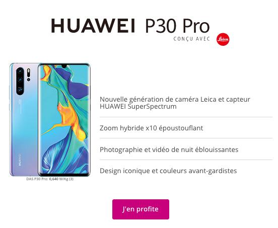 Huawei P30 Pro à précommander chez Bouygues Telecom.