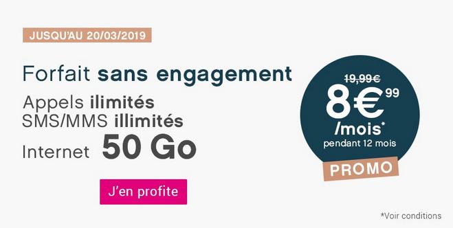 Coriolis Telecom prolonge son forfait en promotion avec 50 Go de 4G.
