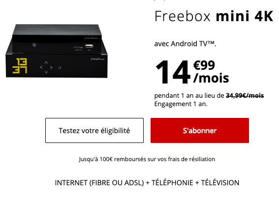 Box internet pour abaisser le cout du forfait 4G de Free mobile.
