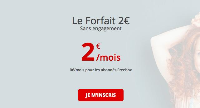 Le forfait 2 heures de Free mobile