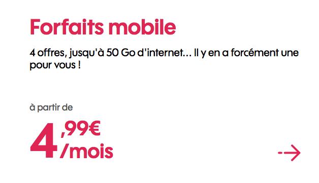 Le forfait 4G de Sosh avec 50 Go de data est en promo.