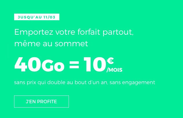 le forfait à vie de RED by SFR.