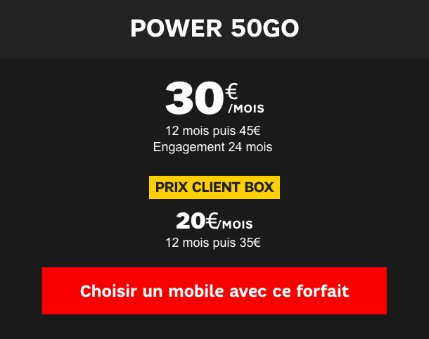 forfait avec mobile les offres 50 go orange sfr et bouygues en promo