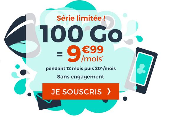 Cdiscount Mobile en promotion avec 100 Go de data.