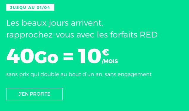 Forfait sans engagement de RED by SFR.