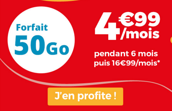 Forfait mobile en promotion avec 40 Go de data.