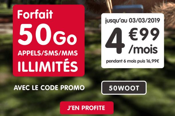 Forfait NRJ mobile en promotion avec 50 Go.