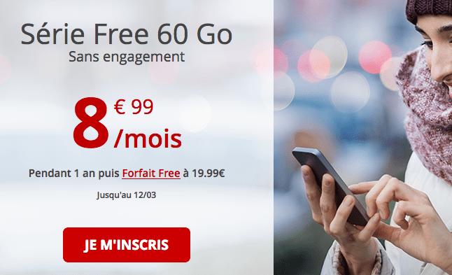 Forfait Netflix chez Free avec 60 Go de data.