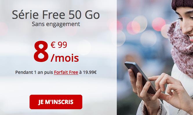 Promotion forfait mobile avec les appels illimités chez Free.