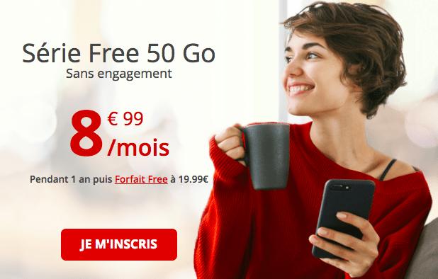 le forfait 50 Go de Free