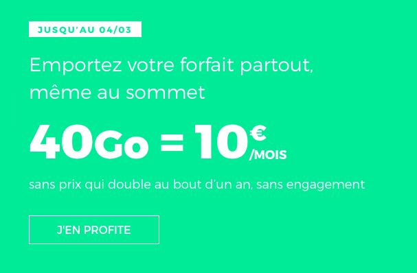 Le forfait mobile 40 Go de RED by SFR.