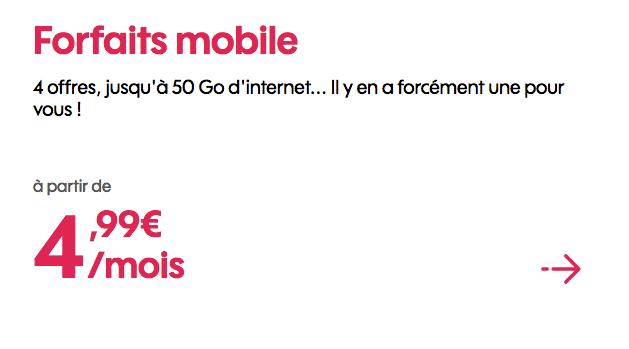 Sosh forfait 4G pas cher grâce à un promotion.