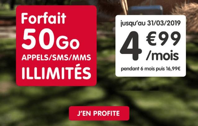 NRJ Mobile promotion forfait pas cher.