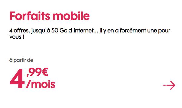 Promo Sosh mobile forfait 4G pas cher.