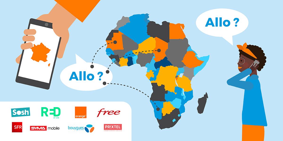 Forfaits mobiles pour appeler vers et depuis l'Afrique