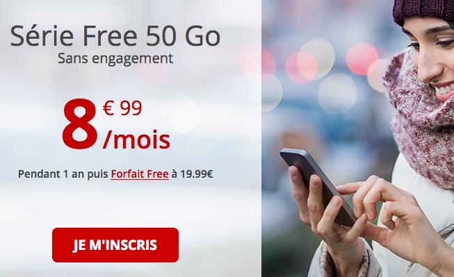 Free mobile forfait éphémère en promotion.