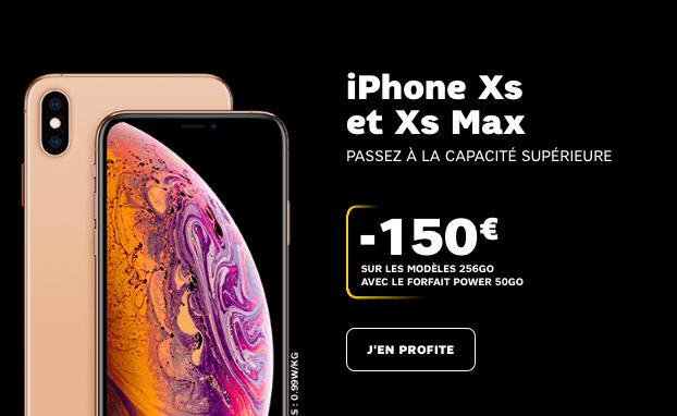les iPhone XS et XS Max en promo avec SFR