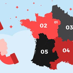 Indicatifs numéros de téléphone en France