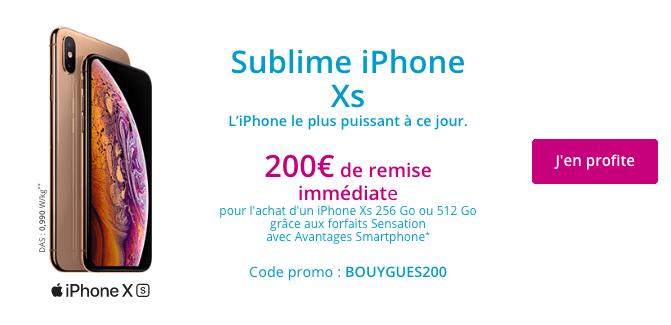 iPhone XS pas cher chez Bouygues Telecom.