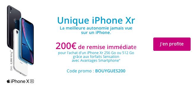 Promo iPhone XR pas cher Bouygues Telecom.
