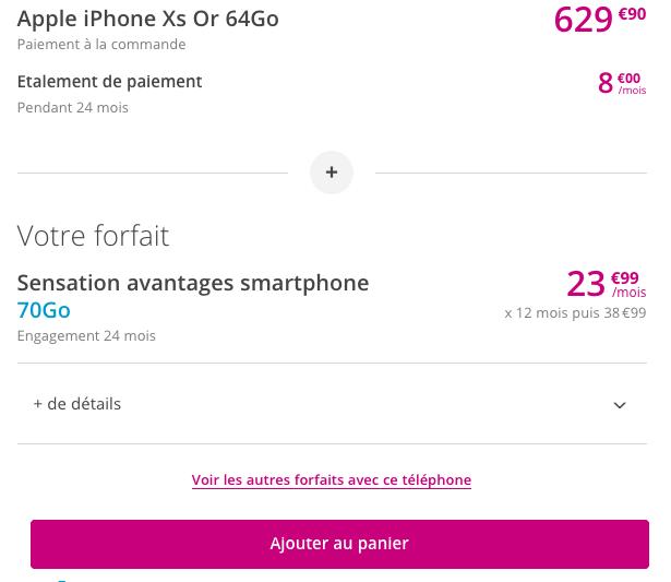 Comment acheter l'iPhone XS au meilleur prix avec un forfait chez Bouygues Telecom ?