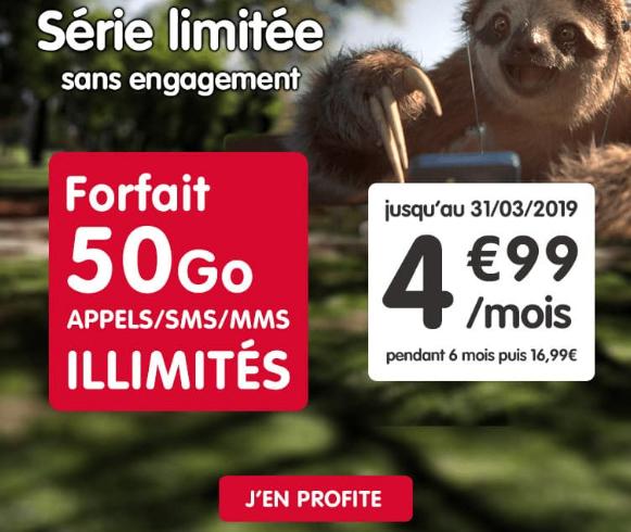 Forfait pas cher pendant six mois avec 50 go de 4G chez NRJ Mobile