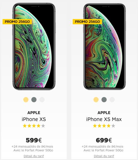 iPhone et forfait Power 50 Go de SFR