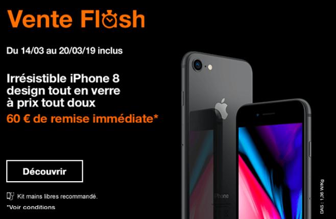 iPhone 8 pas cher avec la promo d'Orange.