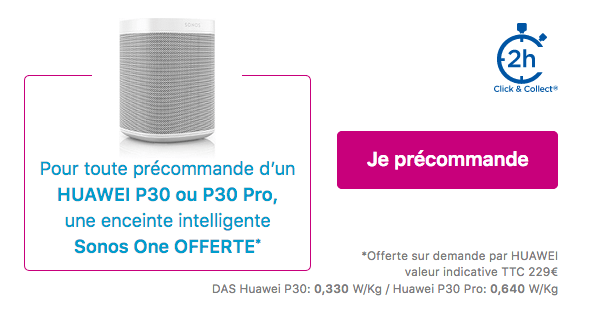 Précommander Huawei P30 et P30 Pro pas cher Bouygues Telecom.
