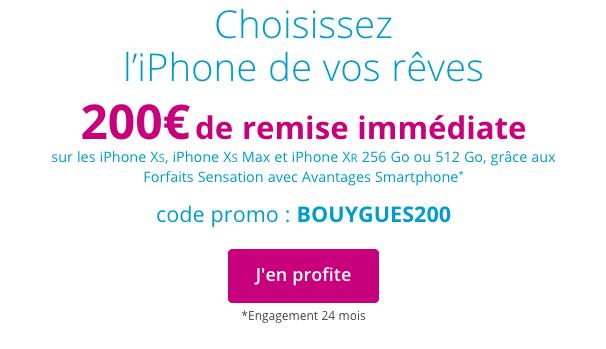 iPhone XR XS et XS Max pas chers chez Bouygues Telecom.