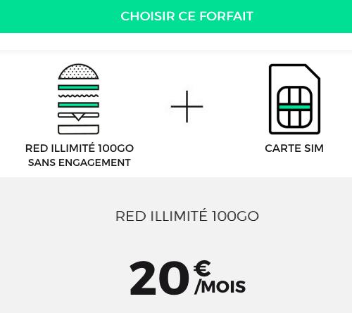 RED by SFR propose un forfait illimité avec 100 Go de 4G.