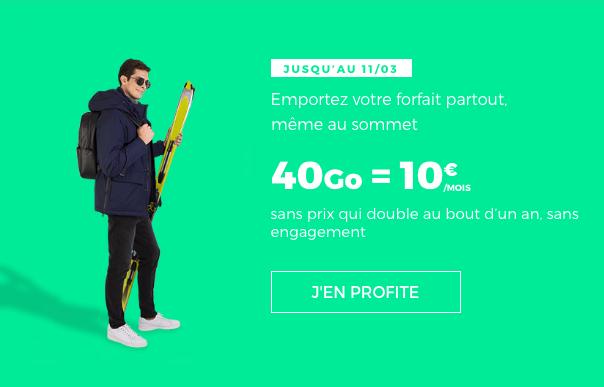 forfait RED 40 Go à 10 euros