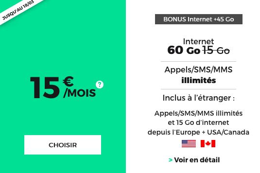 Forfait pas cher et sans engagement chez RED by SFR avec 60 Go de 4G : oui, 60 Go !