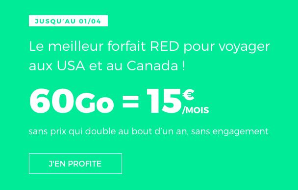 le forfait à 15€ de RED by SFR.