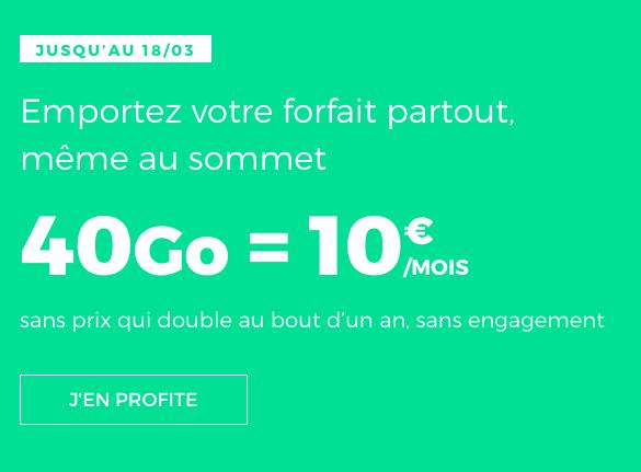 Le forfait 4G pas cher et sans engagement de RED by SFR.