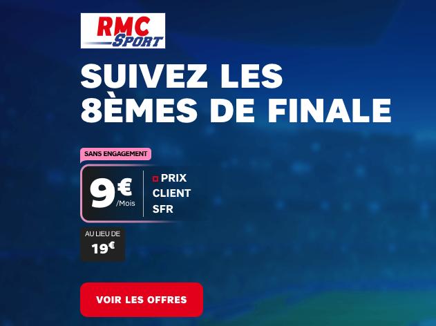 Ligue des Champions et RMC Sport pas cher avec SFR.
