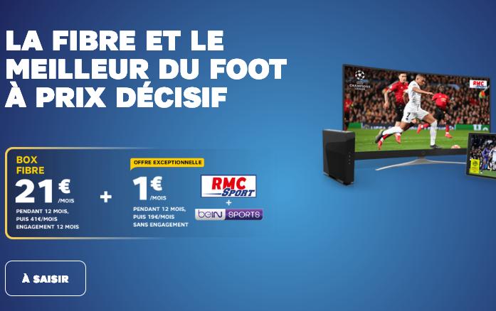 RMC Sport et beIN SPORTS à 1€ avec un abonnement SFR.