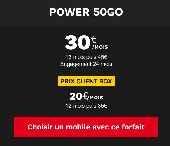 SFR propose 50 Go de 4G avec un forfait et smartphone.