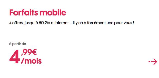 Sosh forfait mobile pas cher grâce à promo.