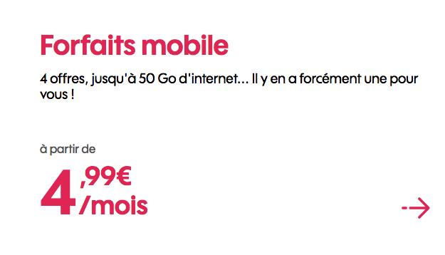 Forfait Sosh en promo avec 50 Go de data.