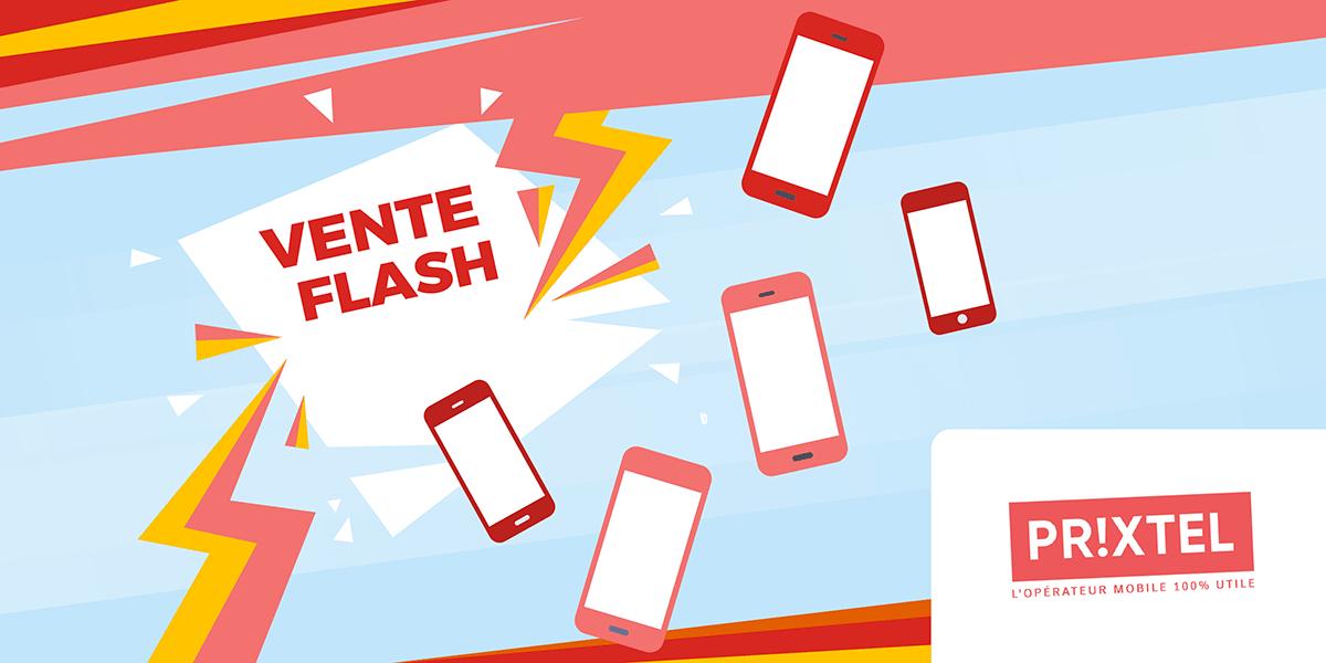 Vente flash sur les smartphones Prixtel