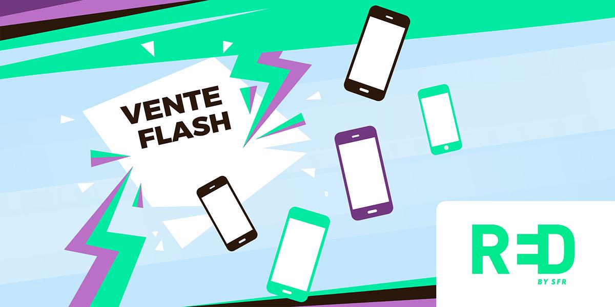 Ventes flash sur les smartphones RED by SFR