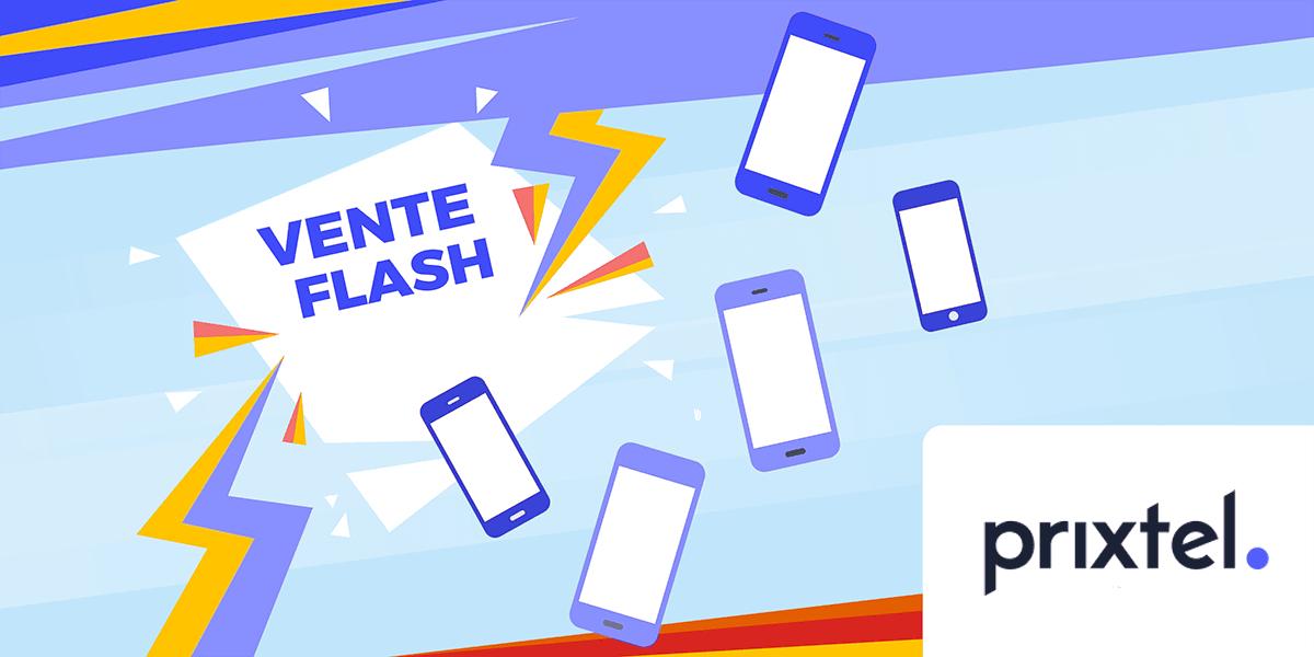 Ventes flash smartphone Prixtel.