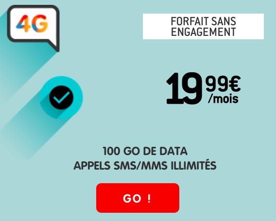 le forfait 100 Go de NRJ Mobile
