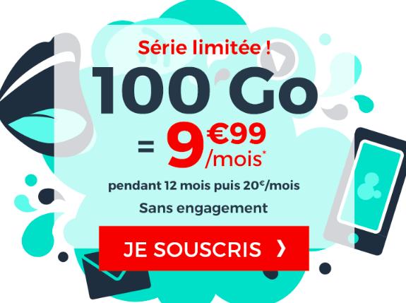 le forfait 100 Go de Cdiscount Mobile