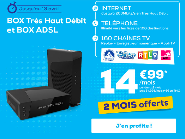 la box internet de La Poste Mobile