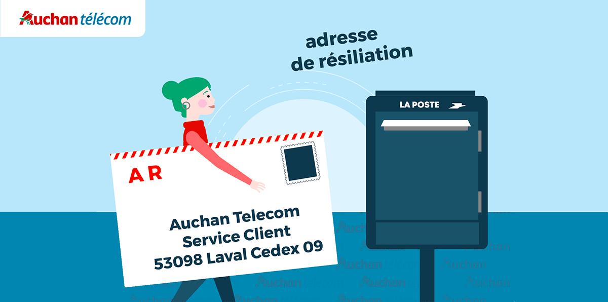 Lettre de résiliation Auchan Telecom
